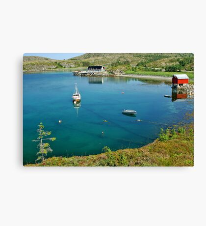Fishing Harbour - Leka, Norway Canvas Print