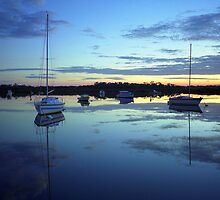 Blue Morning Calm Reflections by Mark Jones