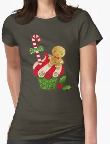 Christmas Cupcake Womens Fitted T-Shirt