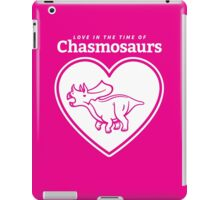 Love in the Time of Chasmosaurs logo: white iPad Case/Skin
