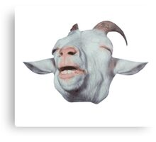 Happy Goat is Faded Metal Print