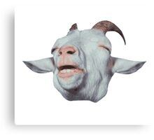 Happy Goat is Faded Canvas Print