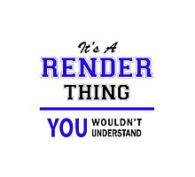 It's a RENDER thing, you wouldn't understand !! by thestarmaker