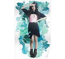 Camila Cabello Blue Splash!  Poster