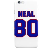 National football player Frankie Neal jersey 80 iPhone Case/Skin