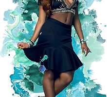 Normani Kordei Blue Splash!  by foreverbands