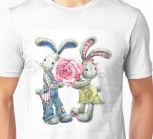 Valentine day. funny bunny Unisex T-Shirt