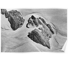 Rocks and Sand, Anchor Bay, Mendocino County, California Poster