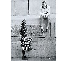 Black and White Teenagers Photographic Print