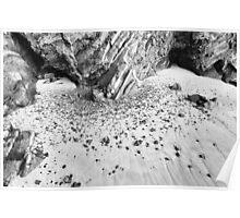 Rock Fall, Anchor Bay, Mendocino County, California Poster
