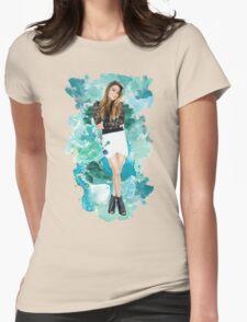 Ally Broke Blue Splash! Womens Fitted T-Shirt