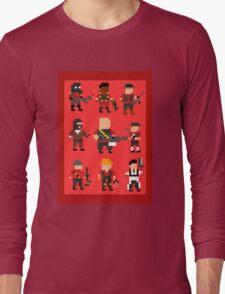 Team Fortress 2 8-Bit Red Team Long Sleeve T-Shirt