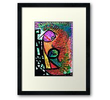 Suffocation - oil pastel on paper drawing Framed Print