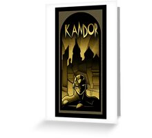 But who will save Kandor ? Greeting Card