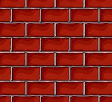 Red brick pattern by Richard Laschon