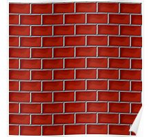 Red brick pattern Poster