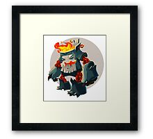 Burning Wood Man Framed Print