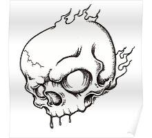 Black And White Skull Poster