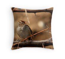 Juvenile White-Crowned Sparrow Throw Pillow