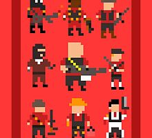Team Fortress 2 8-Bit Red Team by TheWangMeister
