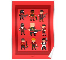 Team Fortress 2 8-Bit Red Team Poster