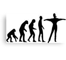 Dancing evolution Canvas Print