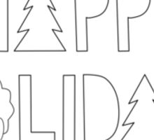 Happy Holidays! Sticker