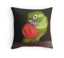 Echo Painting - Maroon-Bellied Conure - CHC Throw Pillow