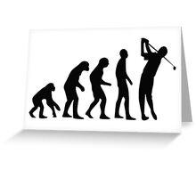 Golf evolution Greeting Card