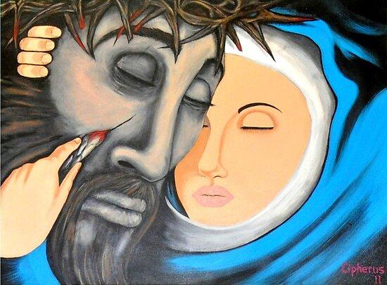 Jesus & Mary by CipherusLee