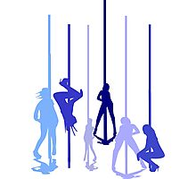 Pole Dancers Photographic Print
