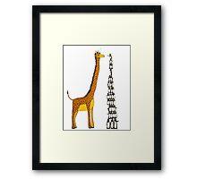 Who is Taller Unicorn Giraffe or Penguin? Framed Print
