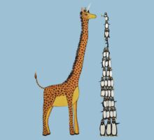Who is Taller Unicorn Giraffe or Penguin? Kids Clothes