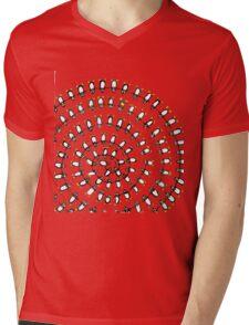 Penguin Fibonacci Mens V-Neck T-Shirt
