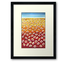 Perfect Pastels- Poached Egg Daisies Framed Print