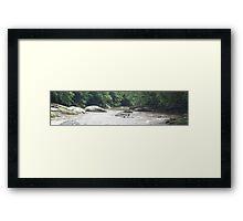 HDR Composite - Calm Rapids on River Framed Print