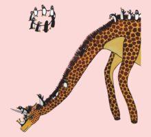 Giraffe Slide Penguins Playing Kids Clothes