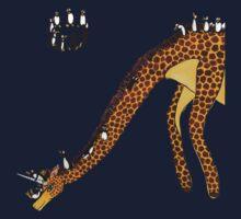 Giraffe Slide Penguins Playing Kids Tee
