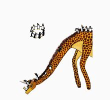 Giraffe Slide Penguins Playing Unisex T-Shirt