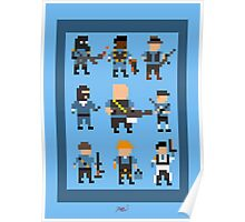 Team Fortress 2 8-Bit Blu Team Poster