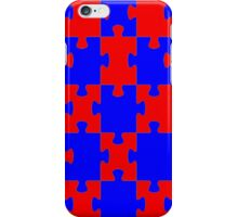 Red and Blue Puzzle iPhone Case/Skin