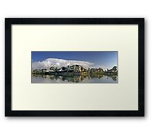 Suburban Panorama Framed Print
