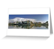 Suburban Panorama Greeting Card