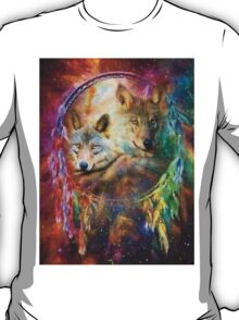 Rainbow Wolf Dreamcatcher T-Shirt