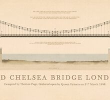 Old Chelsea Bridge London England by Justin Fagence