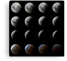 Moon Eclipse Canvas Print