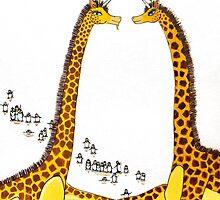 Uni-Giraffes Dancing by Jean Rim