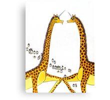 Uni-Giraffes Dancing Canvas Print