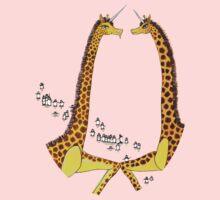 Uni-Giraffes Dancing One Piece - Short Sleeve