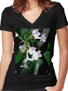 Stephanotis Women's Fitted V-Neck T-Shirt